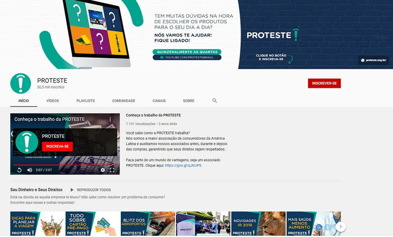 proteste no youtube